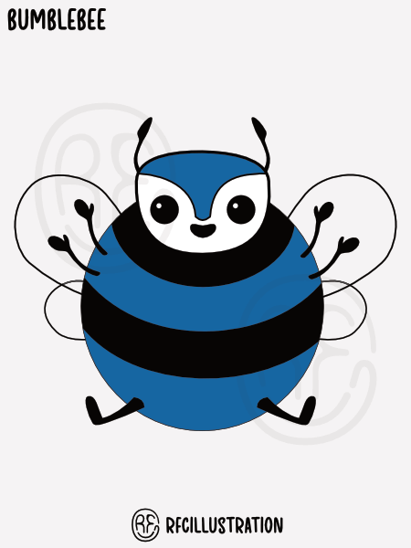 An illustration of a bumblebee.