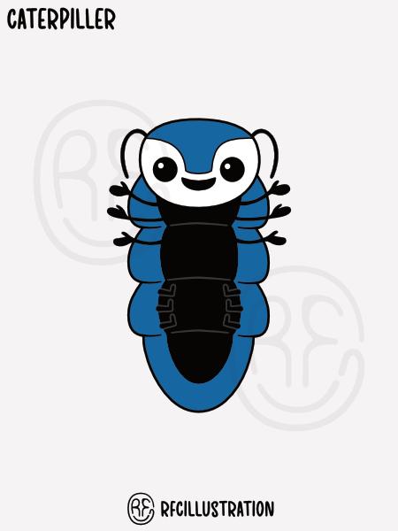 An illustration of a caterpillar.