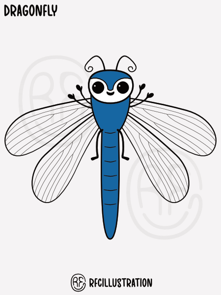 An illustration of a dragonfly.