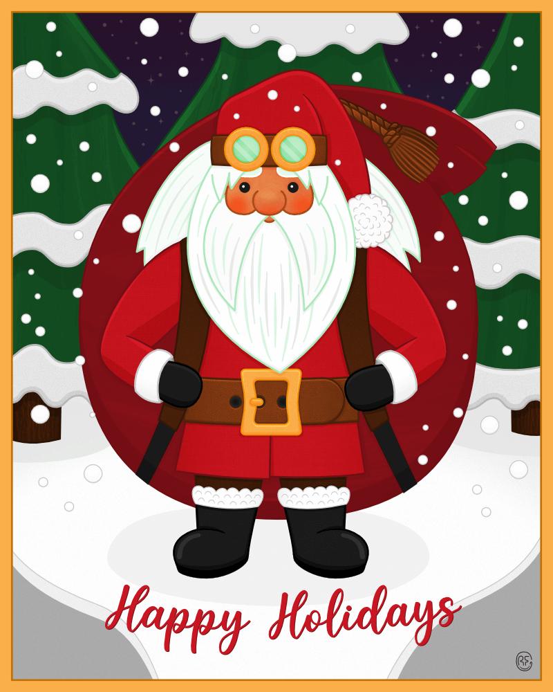 An illustration of Santa Claus.